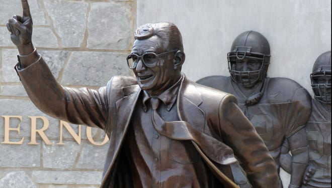 Like the whereabouts and future of this statue of Joe Paterno that was taken down from outside Beaver Stadium shortly after the Freeh report was released, there are many questions unresolved about the late coach's legacy.