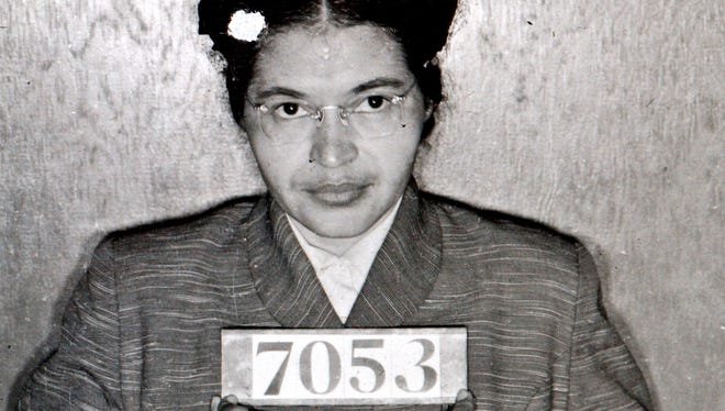 Rosa Parks was arrested for refusing to give up her seat on a bus for a white passenger Dec. 1, 1955 in Montgomery, Ala.