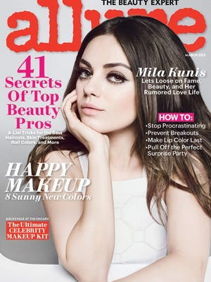 Mila Kunis poses for the March issue of 'Allure' mag, out on Feb. 19.