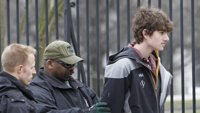 Conor Kennedy, son of Robert Kennedy, Jr., is arrested in Washington on Wednesday.
