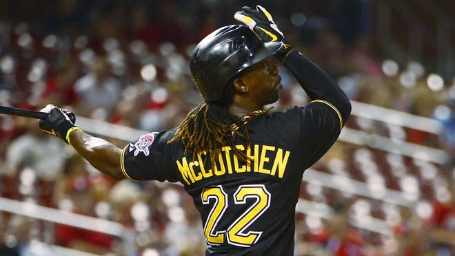Pirates outfielder Andrew McCutchen finished second to Buster Posey in the National League batting race last season with a .327 average. He also hit 31 home runs and stole 20 bases.