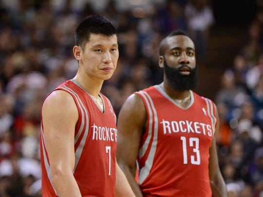 b764a575f721 Shooting guard James Harden and point guard Jeremy Lin have blended nicely  since Harden joined the Houston Rockets in October