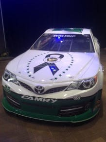 Michael Waltrip's Daytona 500 car will carry a decal that will remind fans and race viewers they can text donations to NEWTOWN to 80888.