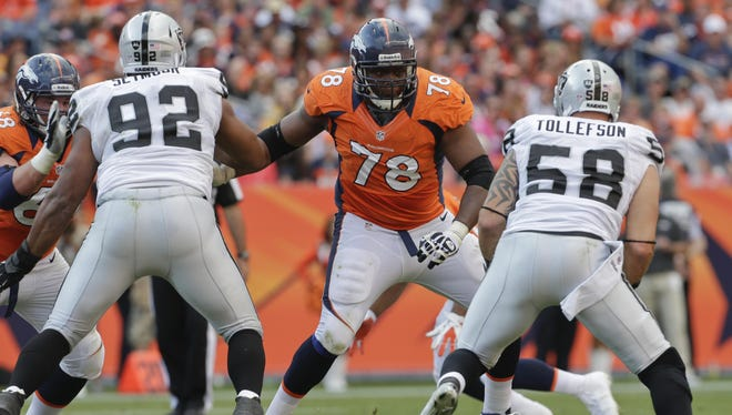 Broncos LT Ryan Clady (78) is a two-time all-pro.