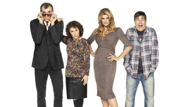 TV Land's 'Kirstie's New Show' stars Michael Richards (left), Rhea Perlman, Kirstie Alley and Eric Petersen.