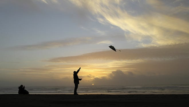 Flying kites can be fun for the whole family.