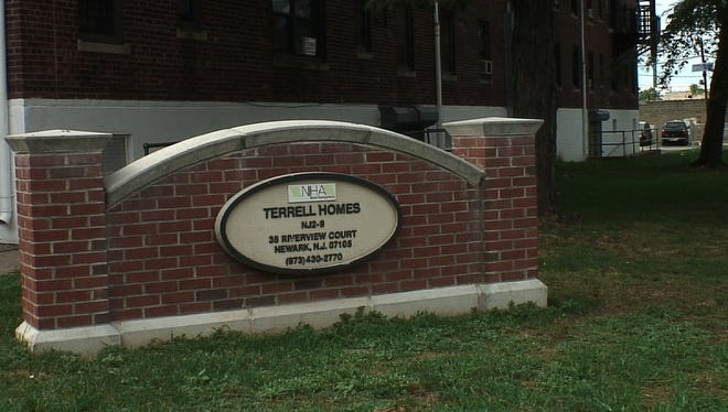 Terrell Homes is a 275-unit family complex in Newark that was built in 1946 next to a former lead factory site. New EPA tests show high levels of lead contamination in the soil around its playground.