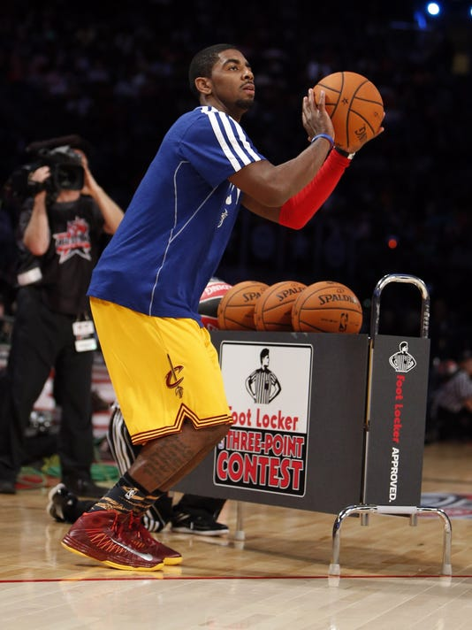 online retailer 0d594 6945c Kyrie Irving owns weekend with three-point contest win
