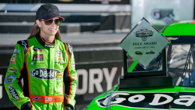 Danica Patrick turned a 196.434-mph lap during Sunday's qualifying to best Jeff Gordon for the Daytona 500 pole.