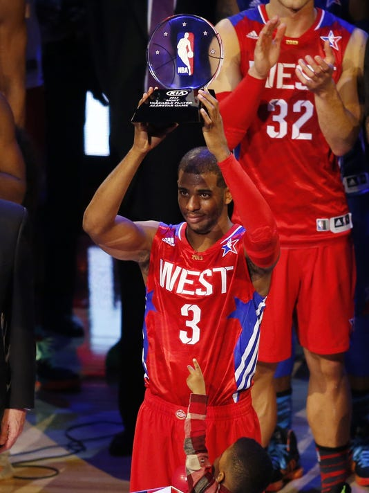 new style 8b75b a7cdc Chris Paul's MVP show leads West in NBA All-Star Game