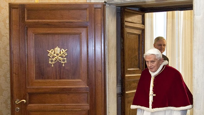 Pope Benedict XVI, shown Feb. 15, disappointed some Catholic conservatives who wanted him to be a better manager and stronger disciplinarian on doctrine.