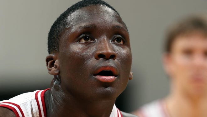 Indiana coach Tom Crean said Monday morning that Oladipo participated in practice Sunday, a day after suffering a sprained ankle.