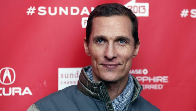 Matthew McConaughey, shown at Sundance on Jan. 19, has a philosophy of clothes.
