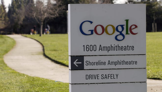 A Google sign at company headquarters in Mountain View, Calif.