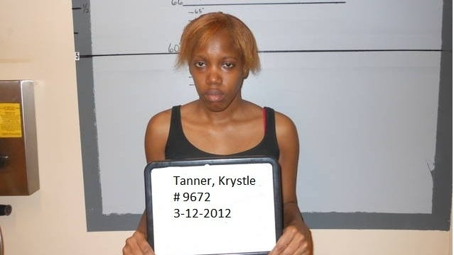 Krystle Tanner, seen here in a March 12, 2012, booking photo, and her mother were convicted Tuesday of kidnapping Miguel Morin in 2004 when he was 8 months old and hiding him for eight years.