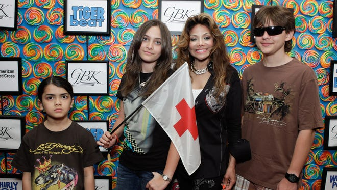 Everyone likes the gift lounge, including Jackson family members Blanket, left, Paris, LaToya and Prince. They supported Japan Relief for the American Red Cross at the GBK Gift Lounge in 2011 in Beverly Hills.