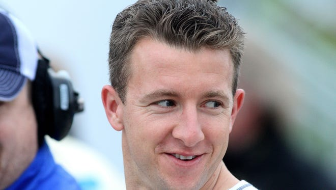 A.J. Allmendinger drove an IndyCar for the first time since October 2006 when he tested for Penske Racing at Sebring on Tuesday.