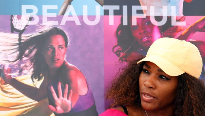 Serena Williams of the USA targets the title at the Dubai Duty Free Championships.