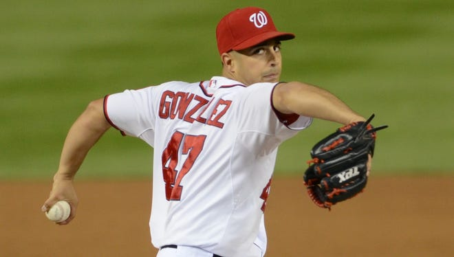 Nationals pitcher Gio Gonzalez finished third in the NL Cy Young award voting in 2012.
