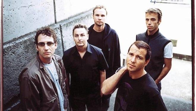 Pearl Jam, from left, Stone Gossard, Mike McCready, Jeff Ament, Eddie Vedder, Matt Cameron