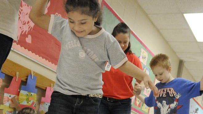 Preschool students in Sevierville, Tenn., on  Friday.