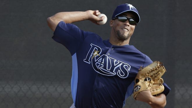 Rays pitcher Juan Sandoval, who is blind in the right eye, is trying to make the major league roster.
