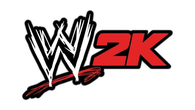 The new logo featuring 2K's WWE title.