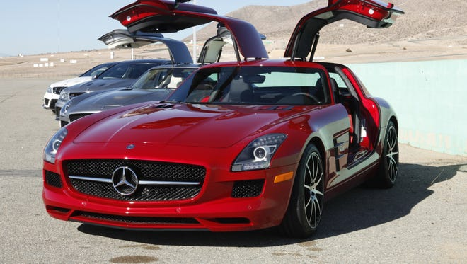 Mercedes Benz AMG is offering its first up-close looks at the new SLS AMG GT.