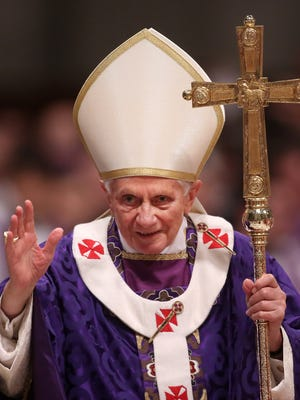 Pope Benedict XVI leads the Ash Wednesday service at the St. Peter's Basilica on Feb.13.
