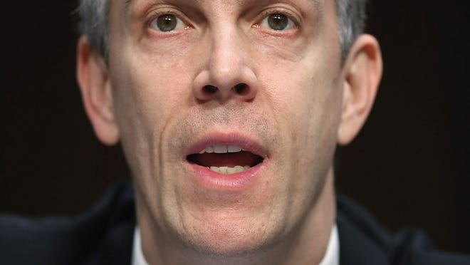 """Education Secretary Arne Duncan testifies before the Senate Appropriations Committee about the potential impacts of """"the sequester"""" on Feb. 14."""