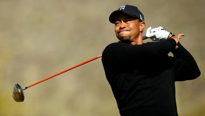 Tiger Woods finally got underway in the late afternoon in his match against Charles Howell III.