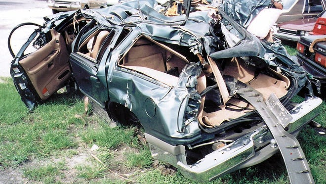 Amerlia Izquierdo, 86, was killed when this Ford Explorer rolled over in Decatur, Ga., in 2000. Four other passengers survived the crash caused by a tire tread separating.