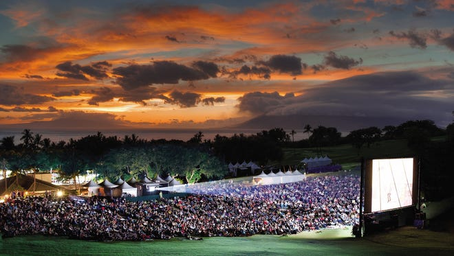 The Maui Film Festival's Celestial Cinema venue on the Wailea Gold & Emerald Golf Course allows patrons to watch movies under the stars. It's lit by the moon and powered (literally) by the sun.