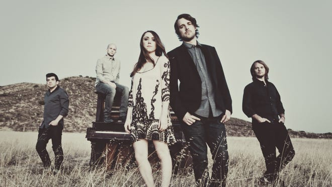The Denver-based quintet Churchill will be touring with Phillip Phillips and Pink this spring and summer. From left, Tyler Rima, Mike Morter, Bethany Kelly,Tim Bruns,  Joe Richmond.