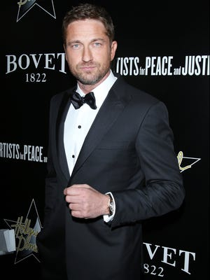 Gerard Butler arrives at the 6th Annual Hollywood Domino Pre-Oscar Gala & Tournament  on Feb. 21