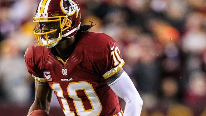 Whether he's ahead of schedule or not, it'll be awhile before Robert Griffin III is on the run again.