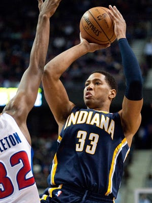 Danny Granger played 19 minutes off the bench in his season debut.