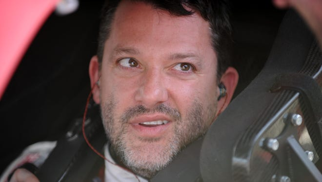 NASCAR Nationwide Series driver Tony Stewart during qualifying for the DRIVE4COPD 300 at Daytona International Speedway.