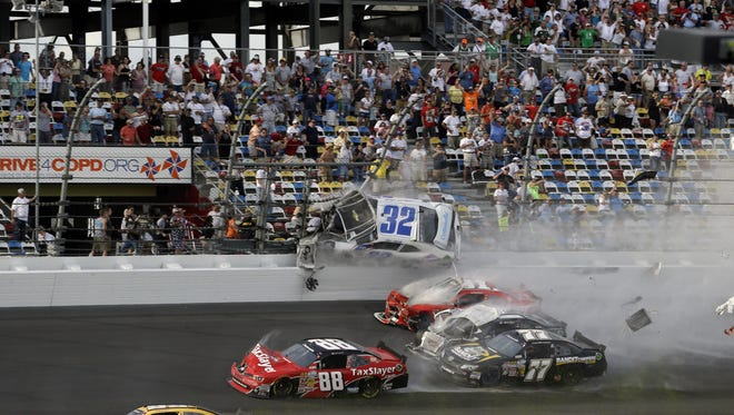 NASCAR says only ticketed fans in the area of Saturday's crash will be allowed to enter Sunday for the Daytona 500 race.