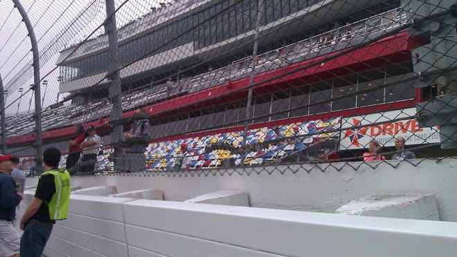 Daytona worked through the night to repair the catchfence that was destroyed in Saturday's crash.