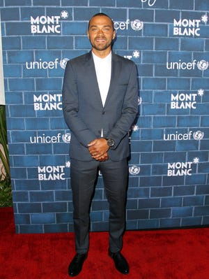 Jesse Williams attends a pre-Oscar charity brunch hosted by Montblanc and UNICEF to celebrate the launch of their new 'Signature For Good 2013' Initiative.