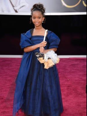 Actress Quvenzhane Wallis at the Oscars.