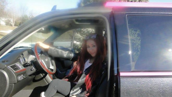 "Nicole ""Snooki"" Polizzi in her custom Cadillac Escalade"