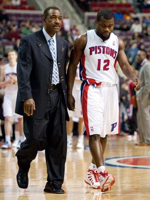 Pistons guard Will Bynum walks off the court after being ejected during Saturday's 90-72 loss to the Pacers.