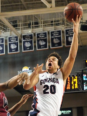 Elias Harris is the second-leading scorer and leading rebounder for Gonzaga, which has rolled through West Coast Conference play unbeaten, winning by just a tick less than 20 points a game.