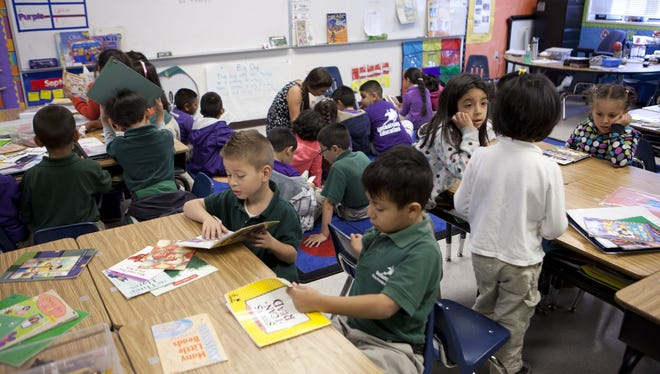 First-graders participate in classroom activities at Rocketship Si Se Puede Adademy in San Jose, California last year.