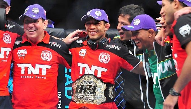 Jose Aldo retained his UFC featherweight title with a unanimous-decision victory over Frankie Edgar earlier this month at UFC 156.