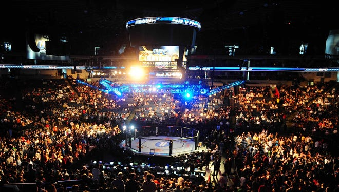 Oracle Arena in Oakland hosts UFC 117 on Aug. 7, 2010.