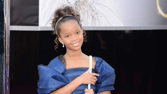 Quvenzhane Wallis in Forevermark Diamonds at the Oscars.
