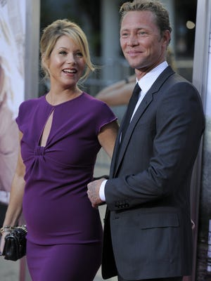 Christina Applegate and Martyn LeNoble, seen here in 2010, reportedly married over the weekend.